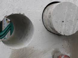 Алмазное бурение отверстий в бетоне стеновых блоков - это просто!