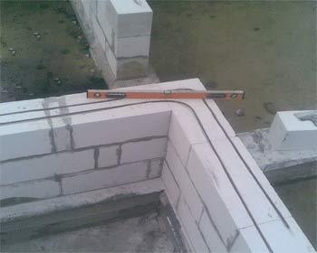 Армирование кладки из газобетона при строительстве дома