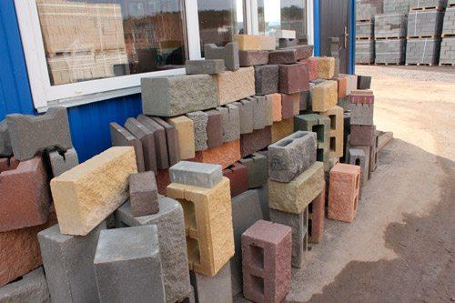 Ассортимент стенового камня