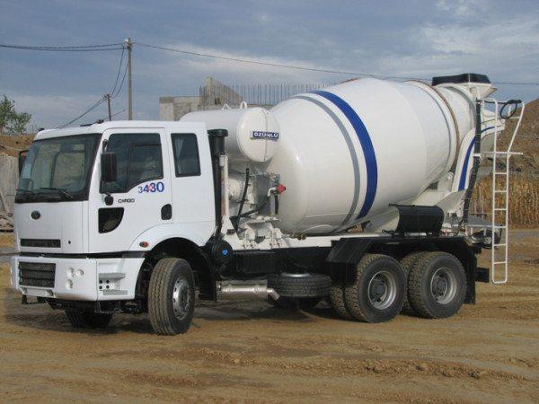 Автобетоносмеситель на базе грузового автомобиля.