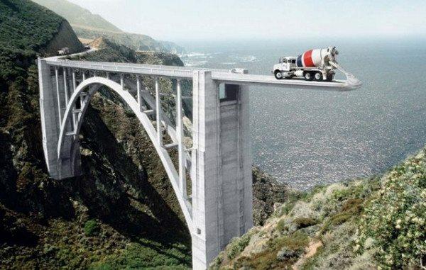 Бетон марки М400 отлично подходит для отливки мостовых пролетов