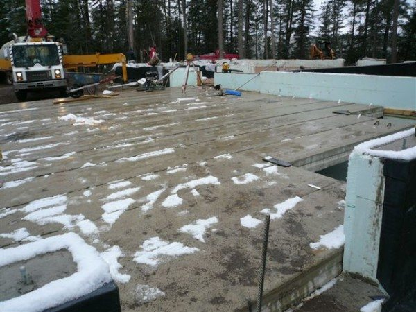 Бетон набирается прочность практически под снегом