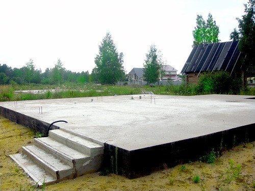 Бетонная заливная конструкция