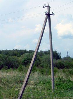Бетонные опоры для столбов воздушных электрических линий