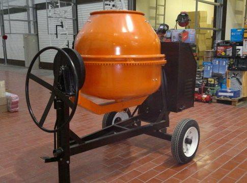 Бетономешалка, имеющая объем 200 литров