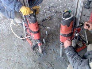 Бурение в бетоне проводите до шлифовальных работ
