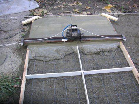 Виброрейки для бетона своими руками