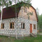 Дачный домик из пенобетонных блоков