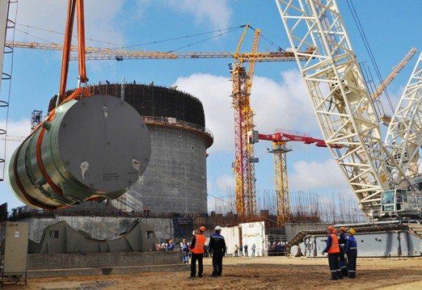 Демонстрируется объект с радиационной опасностью.