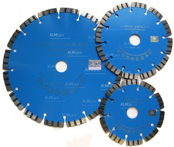 Диски алмазные сегментные. Серия SC- T LTS стандартного качества