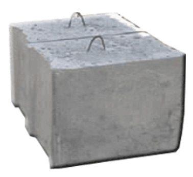 Доборный бетонный блок ФБС 6 4 3.