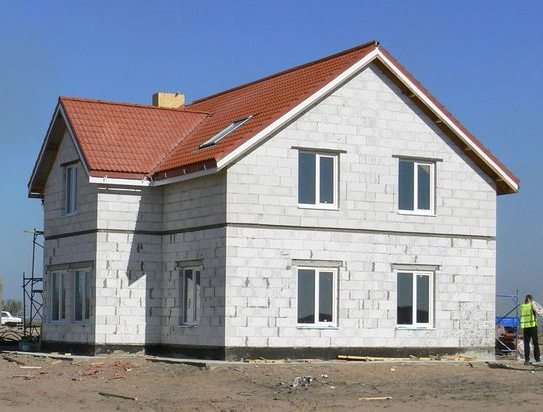 Дом из газобетонного блока