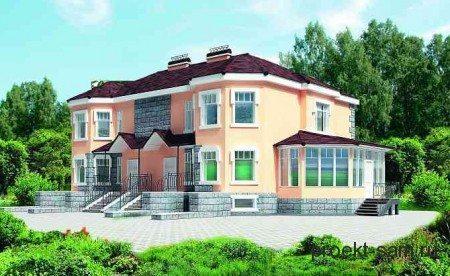 Дом на 2 семьи из газобетонных блоков