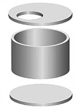 Дорожная плита, кольцо и днище - элементы железобетонных колодцев