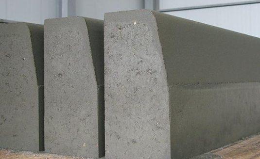 Дорожные бордюры из песчаного бетона