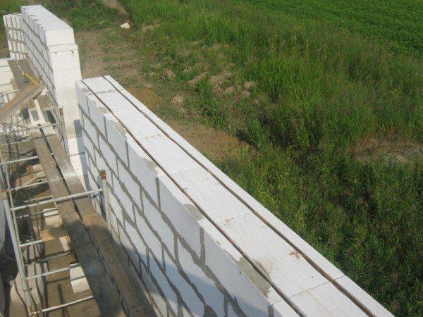 Две нитки продольной арматуры заложены на расстоянии 60 мм от краев блока.