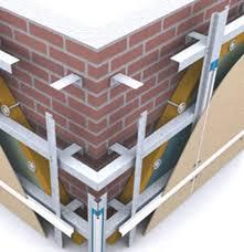 Это структура правильно установленной фасадной системы