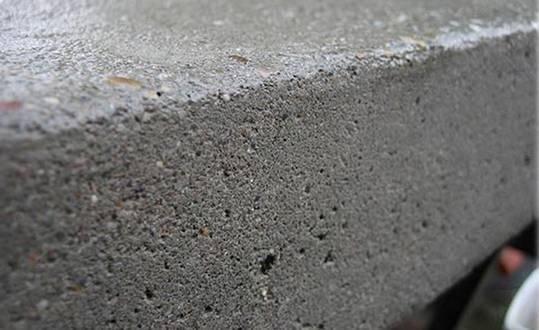 Фактура готового «зеленого» бетонного блока