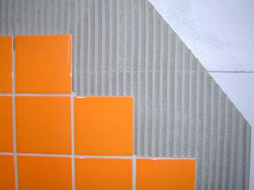 Финишная отделка - укладка плитки на газобетон