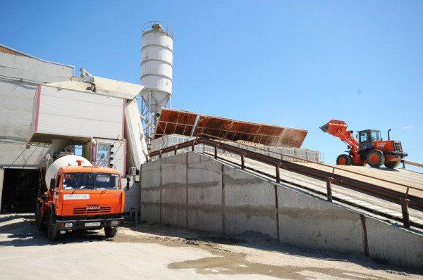 Фото бетонного завода.