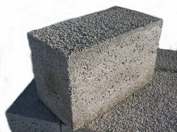 Фото блока лёгкого бетона