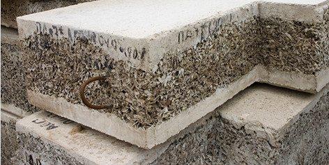 Фото блоков из опилкобетона