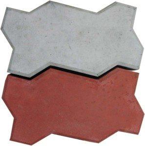 Фото фигурной цветной плитки.