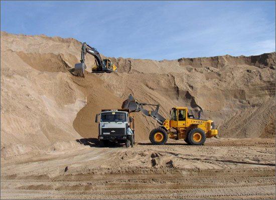 Фото песчаного карьера