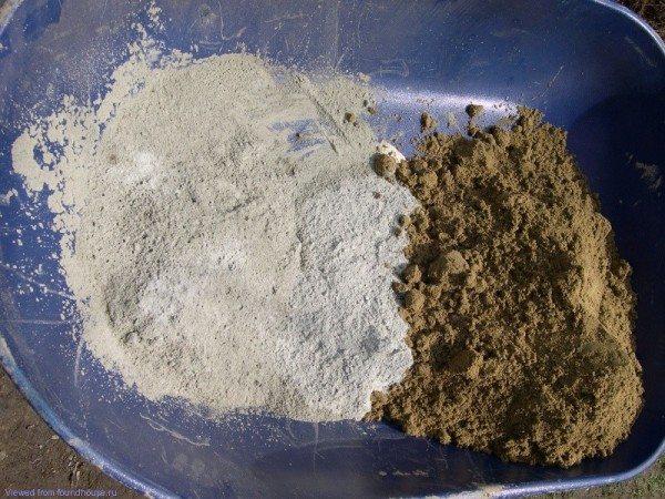 Фото песка и цемента рядом до соединения