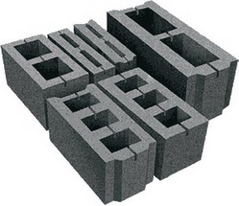 Фото пустотелых блоков из полистиролбетона.