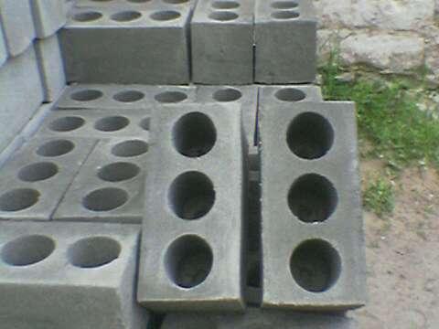 Фото самого распространённого типа кирпичей из бетона