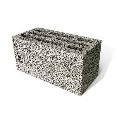 Фото стандартного керамзитобетонного блока, который повсеместно используется