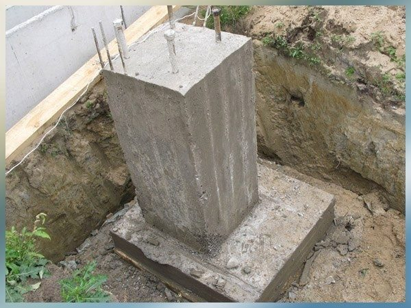 Фото: сваи из бетона класса В20