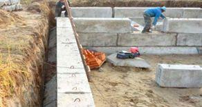 Фундамент из бетонных панелей