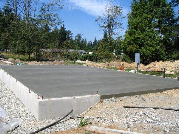 Фундамент из пятисотой марки бетона