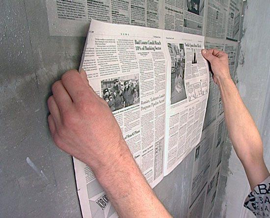 Газета - уникальная возможность недорого подготовить стену к поклейке обоев