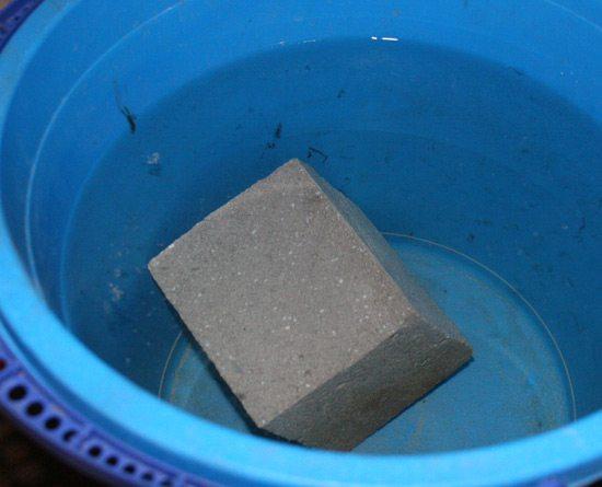 Газобетон тонет в воде
