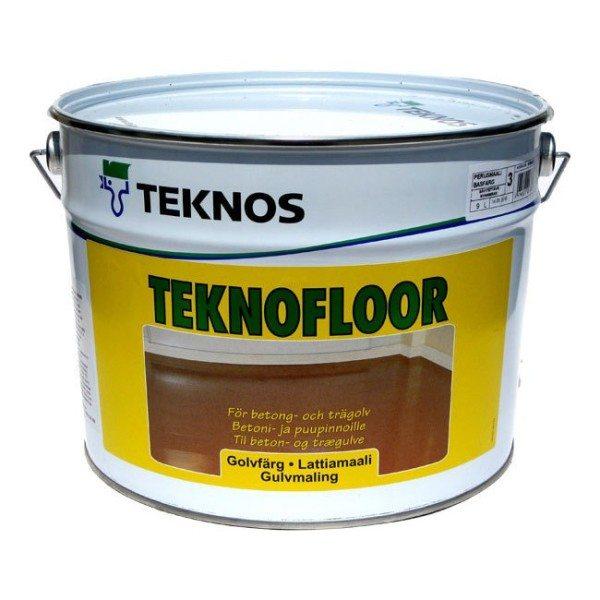 Глянцевая полиуретановая краска для бетонного пола.