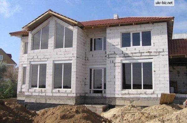 Готовый дом из газоблоков