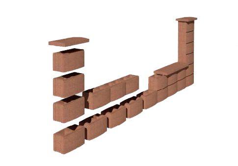 Графическая схема сборки бетонного забора