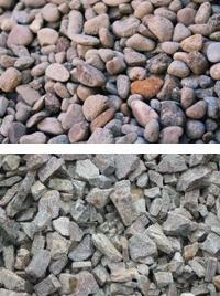 Гравий и щебень являются крупными наполнителями в бетоне.