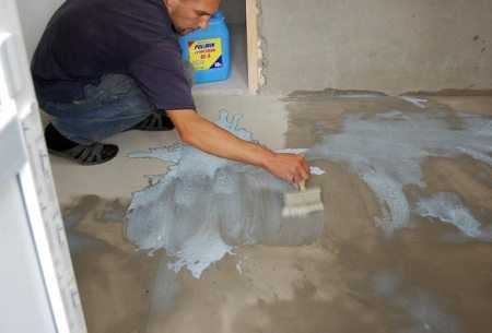 Грунтование цементного покрытия