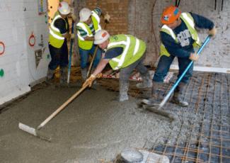 Хороший и плотный бетон можно получить только с армированием