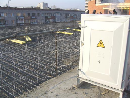 Использование обогревающего провода на строительной площадке