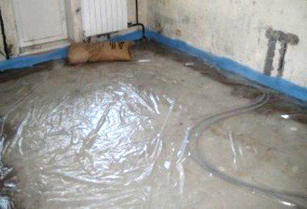 Использование пленки для создания гидроизоляции