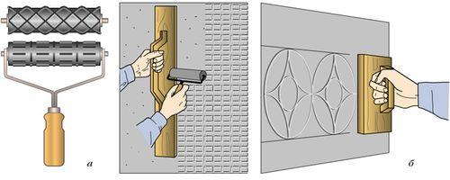 Использование штампов для художественного оформления поверхности