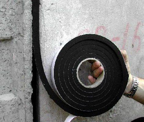 Использование специального шнура во время гидроизоляции