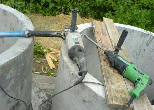 вибрирование бетона перфоратором