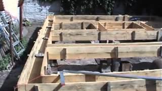 Изготовление опалубки для свайного фундамента с ростверком из бетона