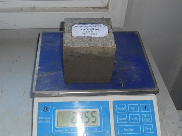 Измерение массы материала